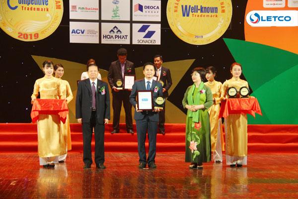 LETCO đạt TOP 100 Nhãn hiệu nổi tiếng Việt Nam năm 2019