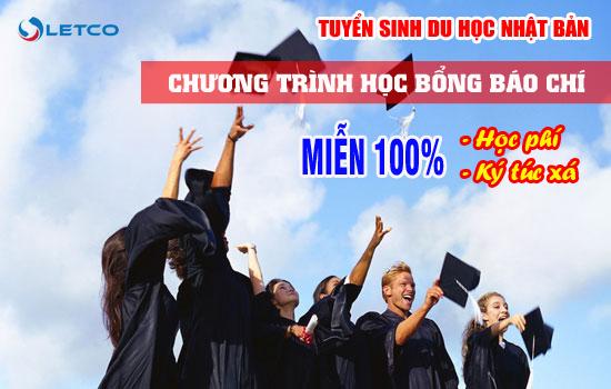 tuyen sinh du hoc nhat ban chuong trinh hoc bong bao chi mien 100 hoc phi va ktx