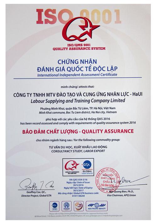 letco dat chung nhan danh gia chat luong quoc te doc lap qas 2016