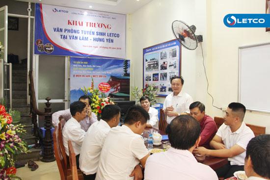 Khai trương Văn phòng tuyển sinh LETCO tại Văn Lâm, Hưng Yên