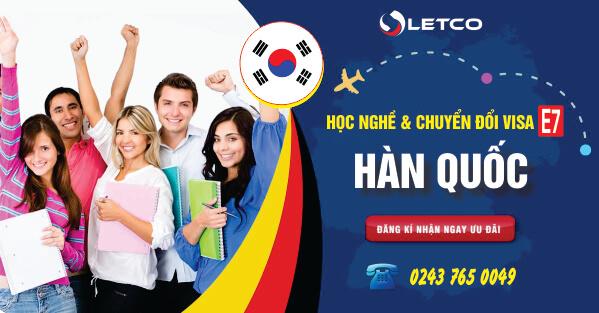 Học nghề và chuyển đổi Visa lao động E7 tại Hàn Quốc