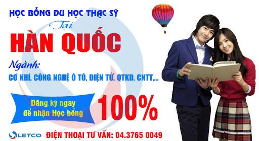 chuong trinh hoc bong thac sy tai han quoc