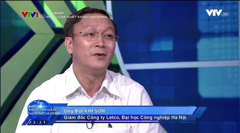 video giam doc bui kim son tham gia chuong trinh hoi nhap vtv1