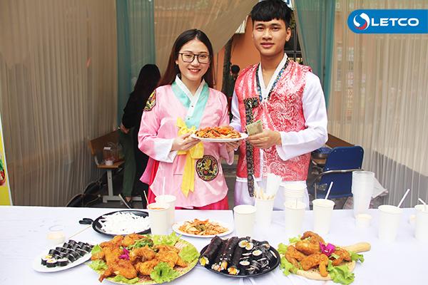 Du học sinh LETCO trổ tài nấu món ăn Nhật - Hàn
