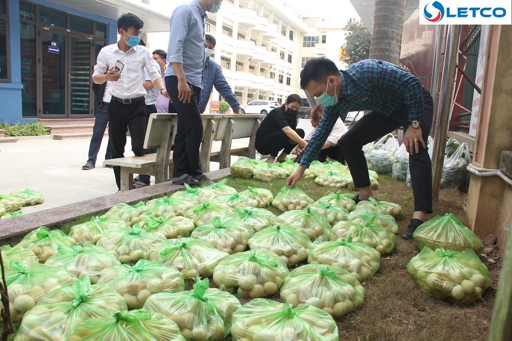"""LETCO hưởng ứng hoạt động """"giải cứu"""" nông sản tỉnh Hải Dương"""