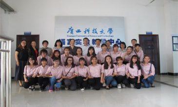 19 sinh viên ĐH Công nghiệp Hà Nội học tập tại trường ĐH KHKT Quảng Tây, TQ